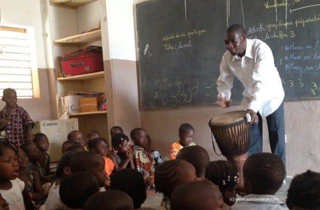 young children in school in Burkina Faso