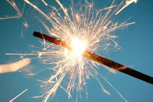 fireworks for celebrating a successful life